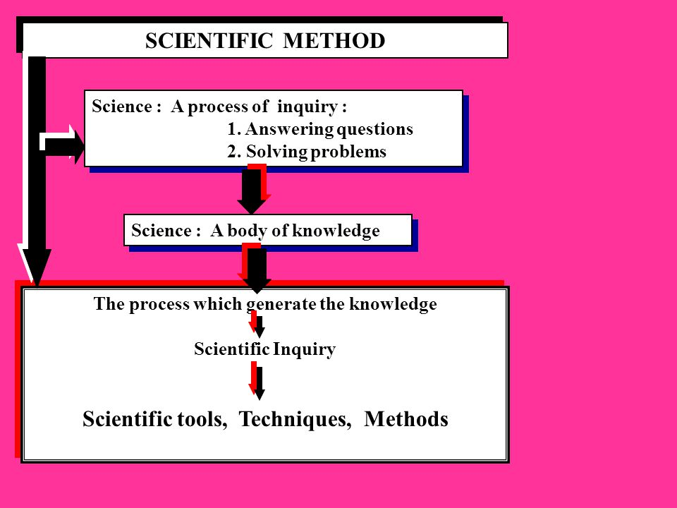 SCIENTIFIC METHOD Scientific tools, Techniques, Methods