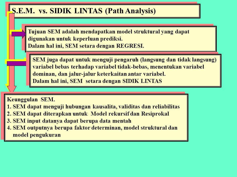 S.E.M. vs. SIDIK LINTAS (Path Analysis)