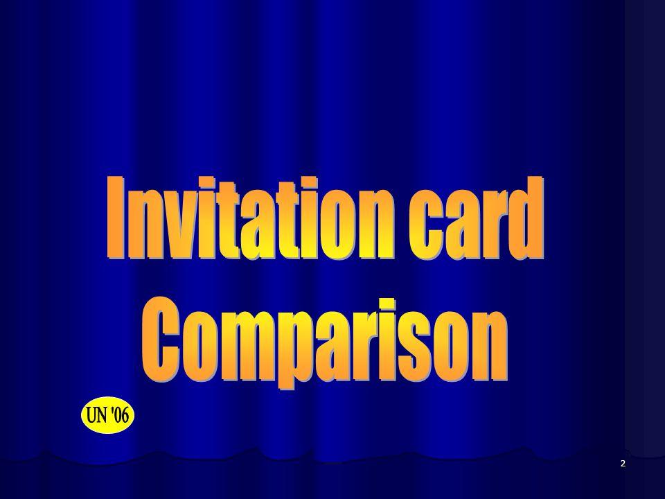 Invitation card Comparison