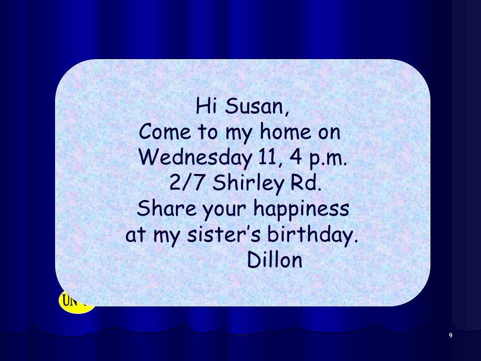 at my sister's birthday.