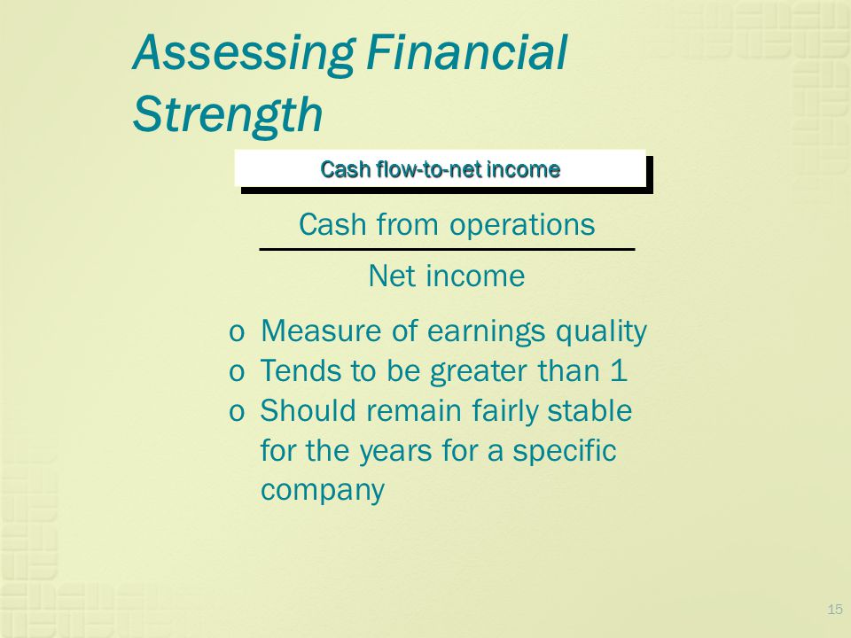 Cash flow-to-net income