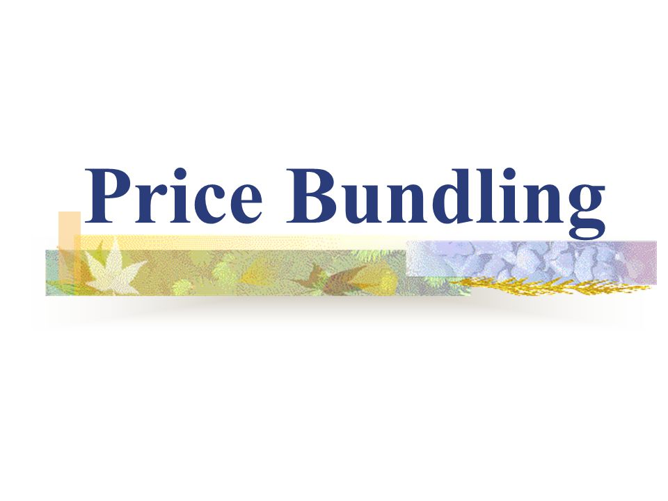 Price Bundling