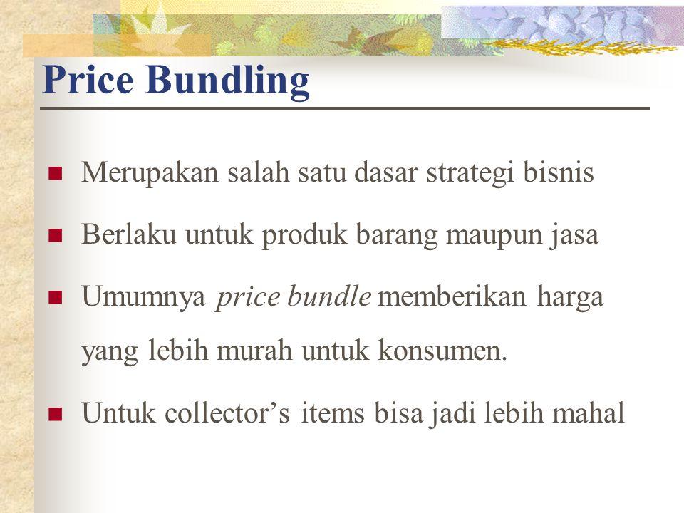 Price Bundling Merupakan salah satu dasar strategi bisnis. Berlaku untuk produk barang maupun jasa.
