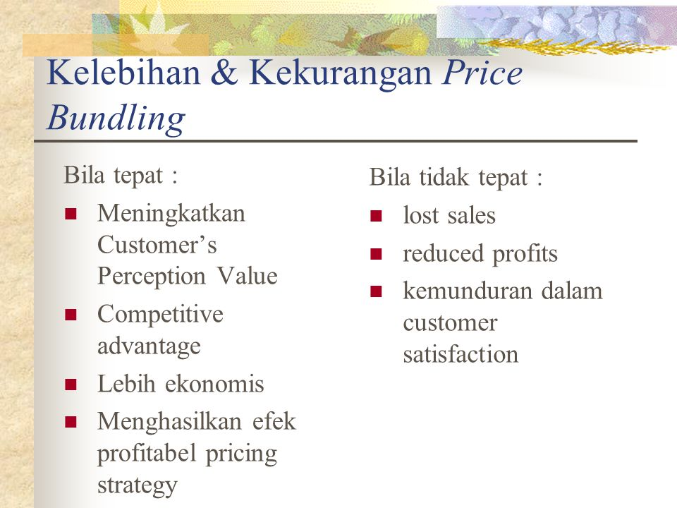 Kelebihan & Kekurangan Price Bundling