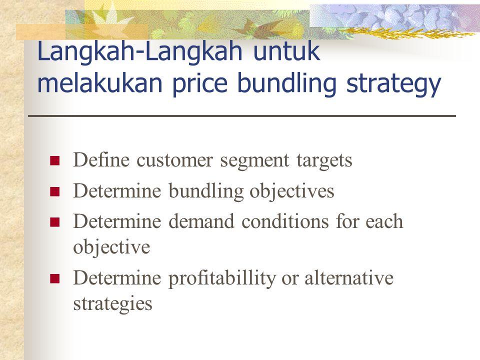 Langkah-Langkah untuk melakukan price bundling strategy