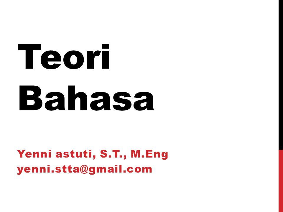 Yenni astuti, S.T., M.Eng yenni.stta@gmail.com