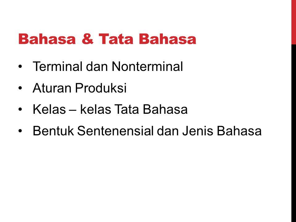 Bahasa & Tata Bahasa Terminal dan Nonterminal Aturan Produksi