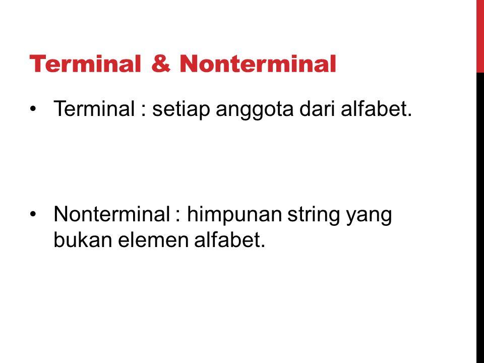 Terminal & Nonterminal