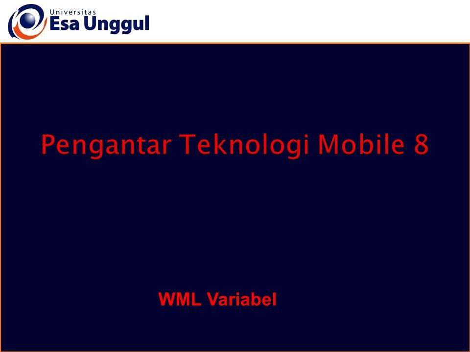 Pengantar Teknologi Mobile 8