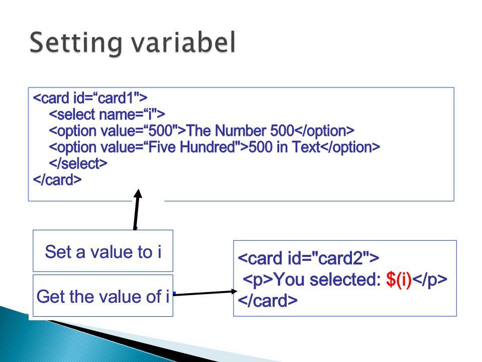 Setting variabel