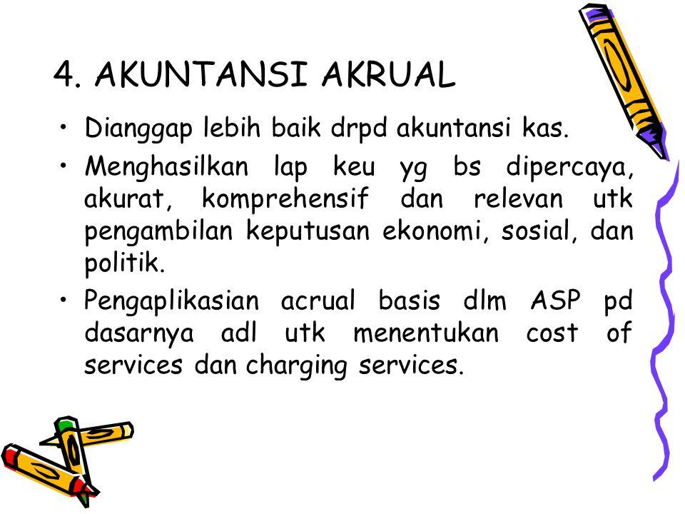 4. AKUNTANSI AKRUAL Dianggap lebih baik drpd akuntansi kas.