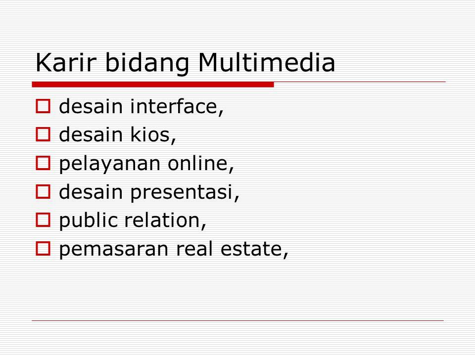 Karir bidang Multimedia