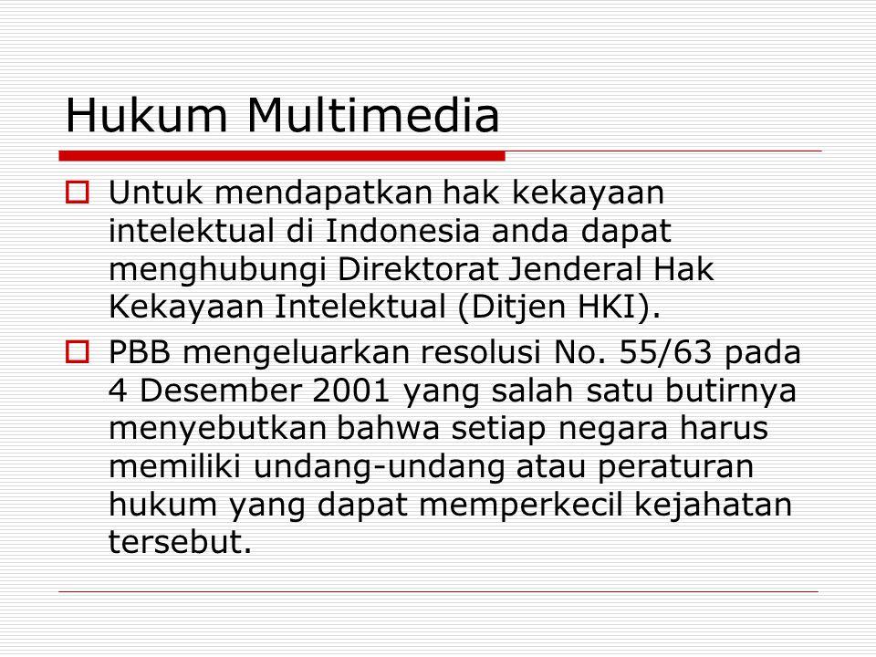 Hukum Multimedia