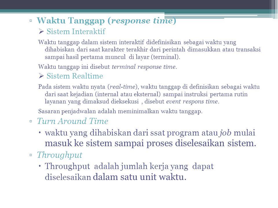 Waktu Tanggap (response time)