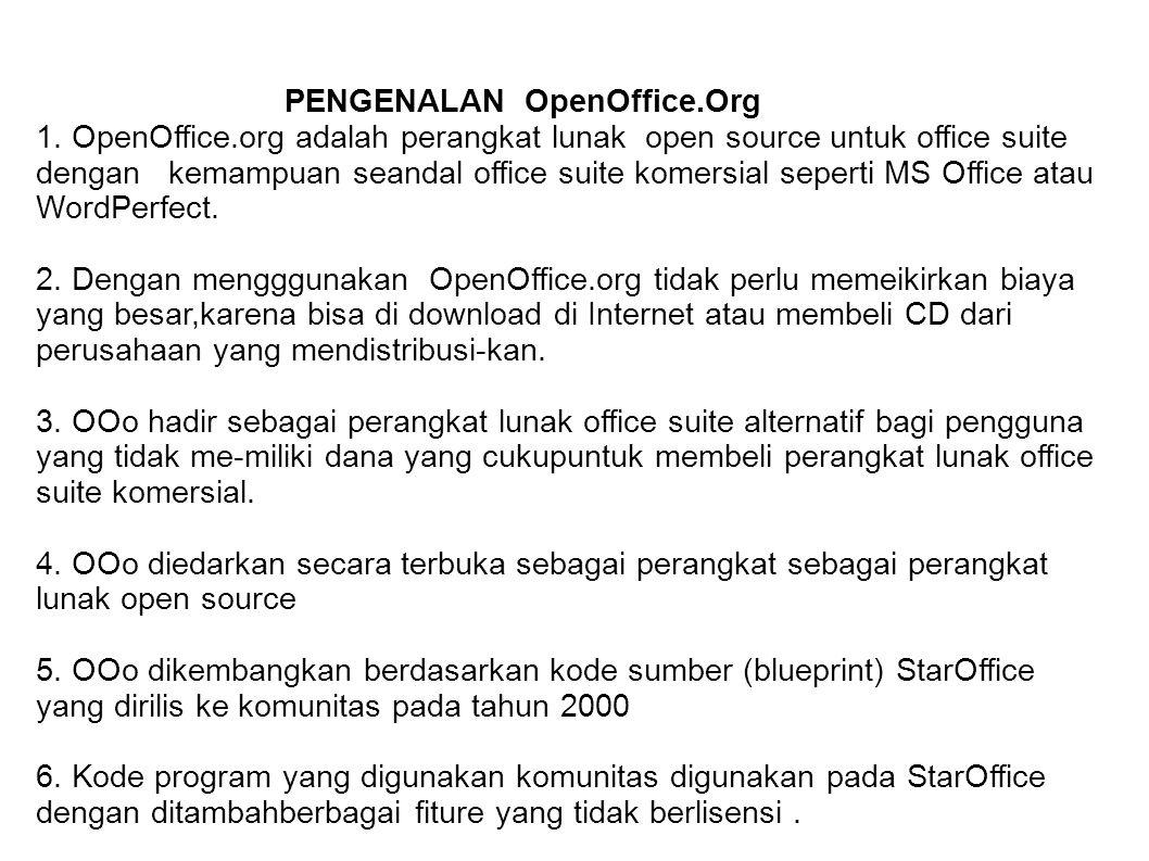PENGENALAN OpenOffice.Org