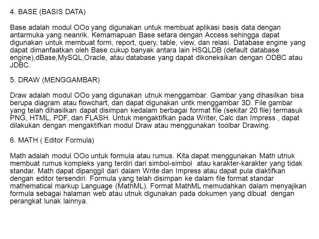 4. BASE (BASIS DATA)