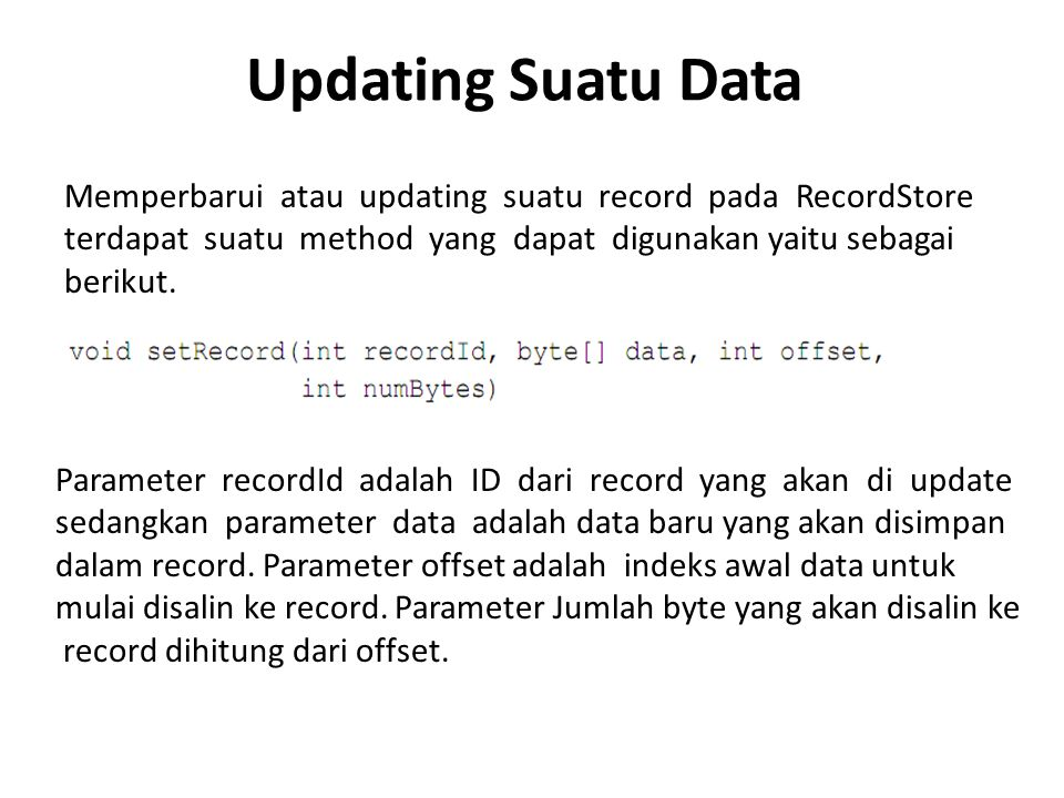 Updating Suatu Data