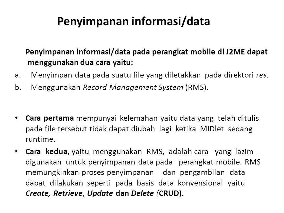 Penyimpanan informasi/data
