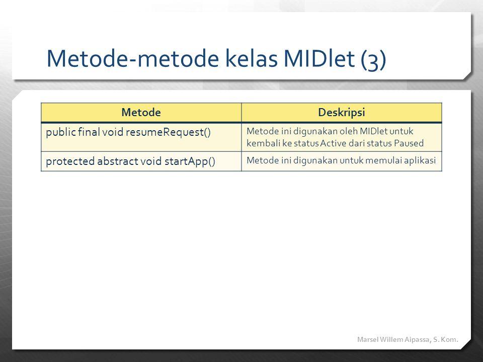 Metode-metode kelas MIDlet (3)