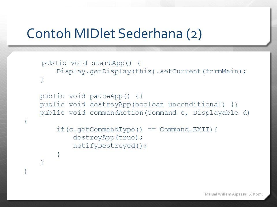 Contoh MIDlet Sederhana (2)