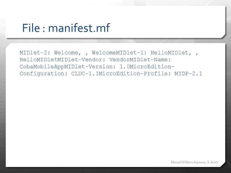 File : manifest.mf