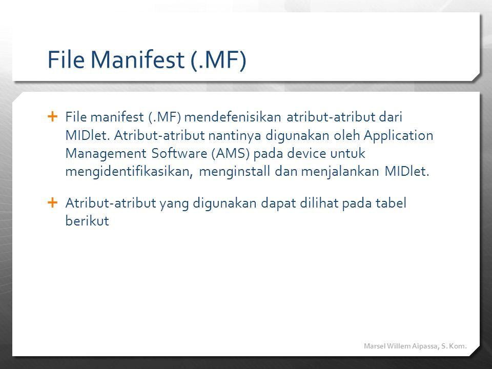 File Manifest (.MF)