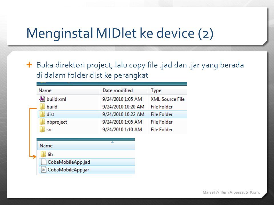 Menginstal MIDlet ke device (2)
