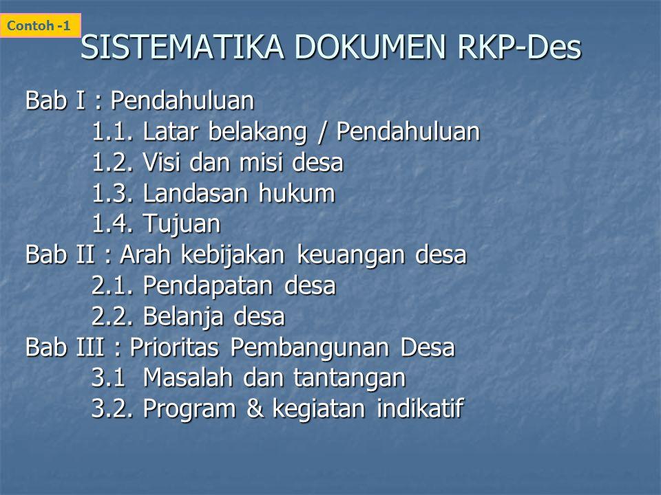 SISTEMATIKA DOKUMEN RKP-Des