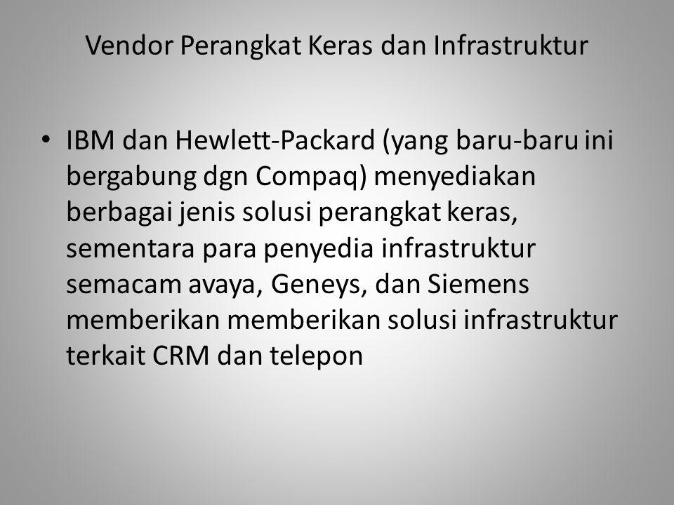 Vendor Perangkat Keras dan Infrastruktur