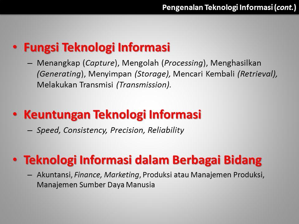 Fungsi Teknologi Informasi