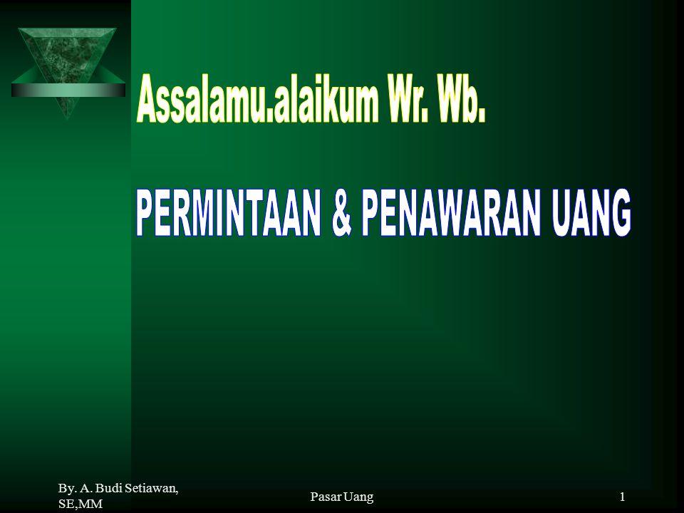 PERMINTAAN & PENAWARAN UANG