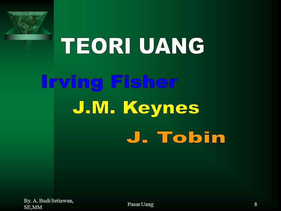 TEORI UANG Irving Fisher J.M. Keynes J. Tobin