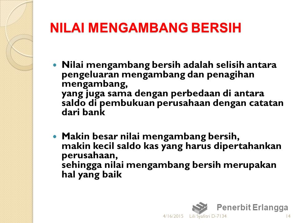 NILAI MENGAMBANG BERSIH