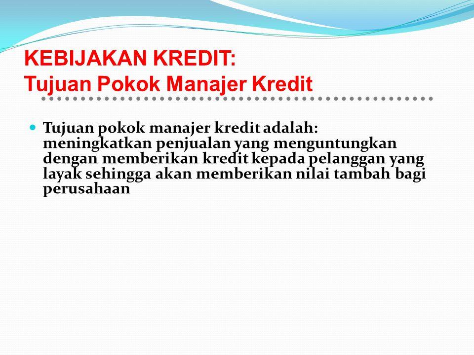 KEBIJAKAN KREDIT: Tujuan Pokok Manajer Kredit