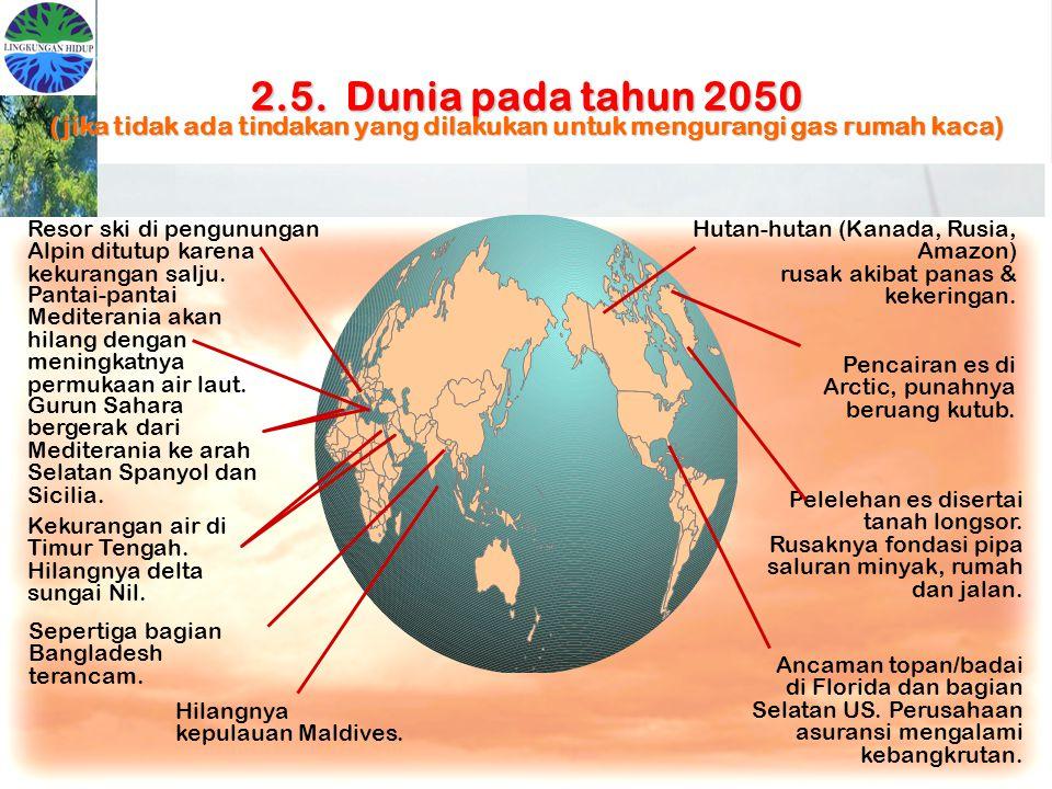 2.5. Dunia pada tahun 2050 (jika tidak ada tindakan yang dilakukan untuk mengurangi gas rumah kaca)