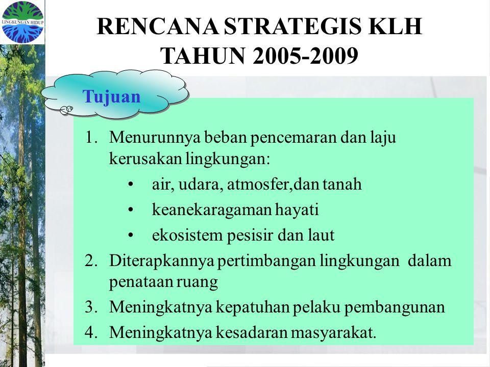 RENCANA STRATEGIS KLH TAHUN 2005-2009