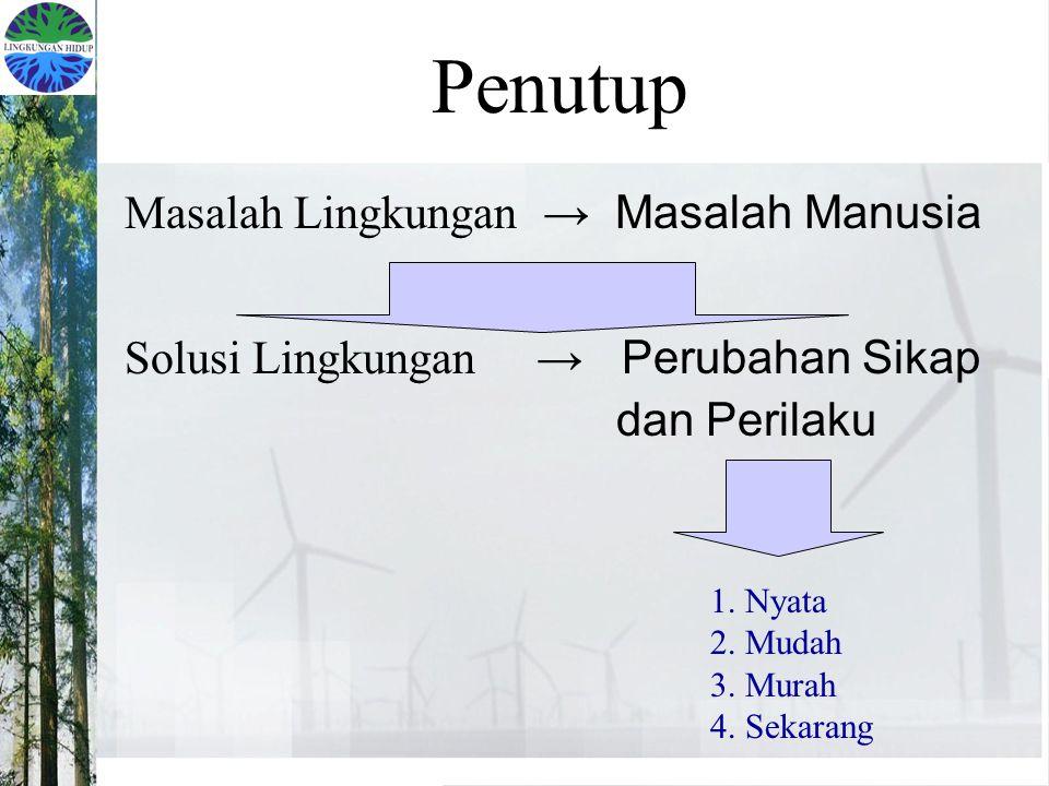 Penutup Masalah Lingkungan → Masalah Manusia