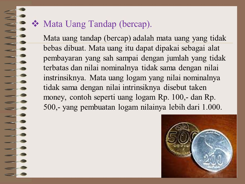 Mata Uang Tandap (bercap).