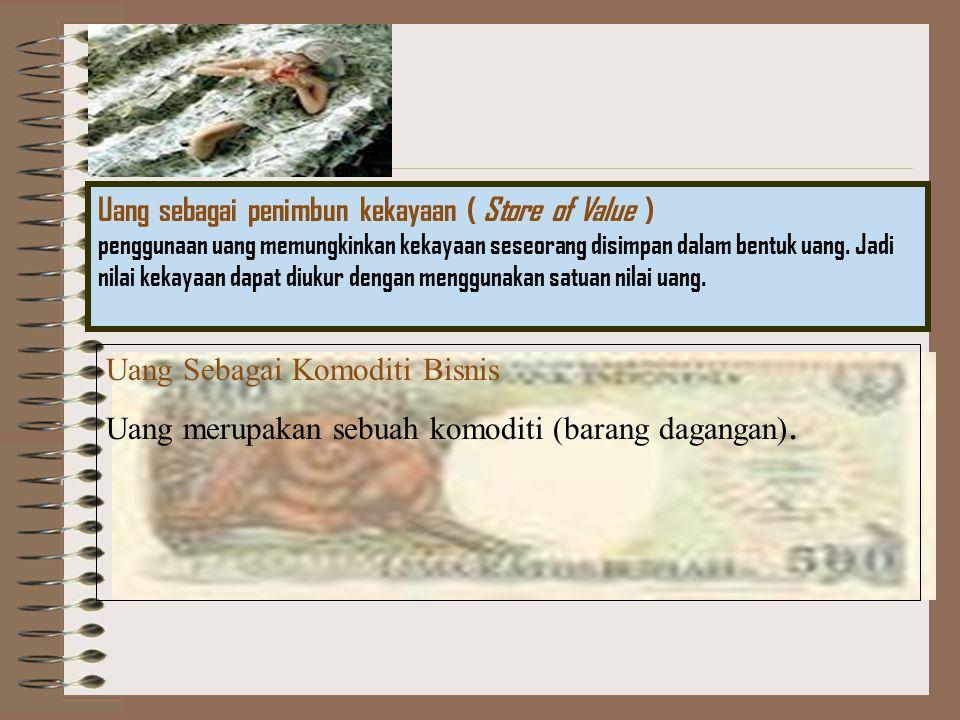 Uang sebagai penimbun kekayaan ( Store of Value )