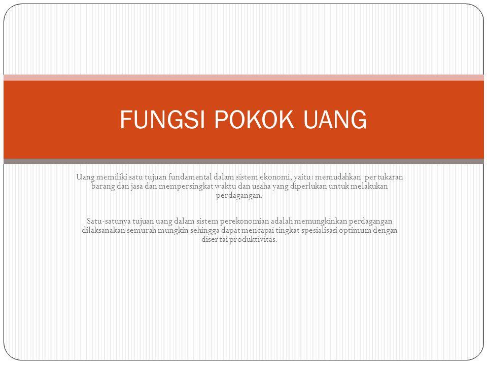 FUNGSI POKOK UANG