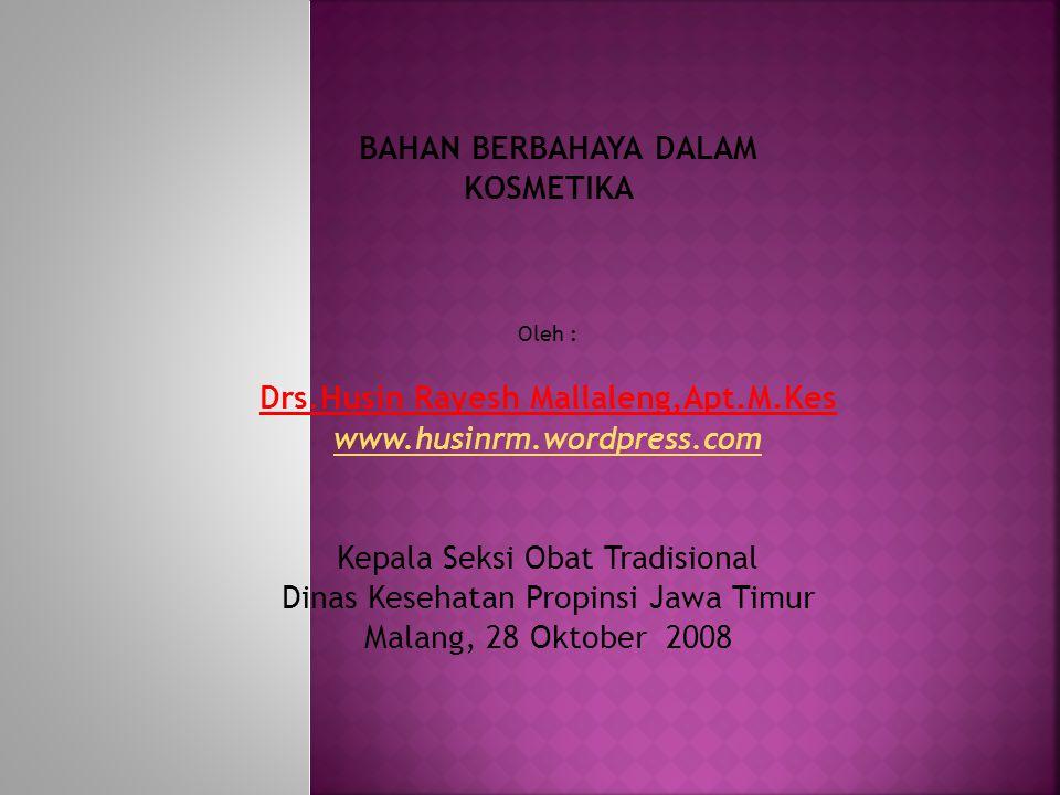Drs.Husin Rayesh Mallaleng,Apt.M.Kes
