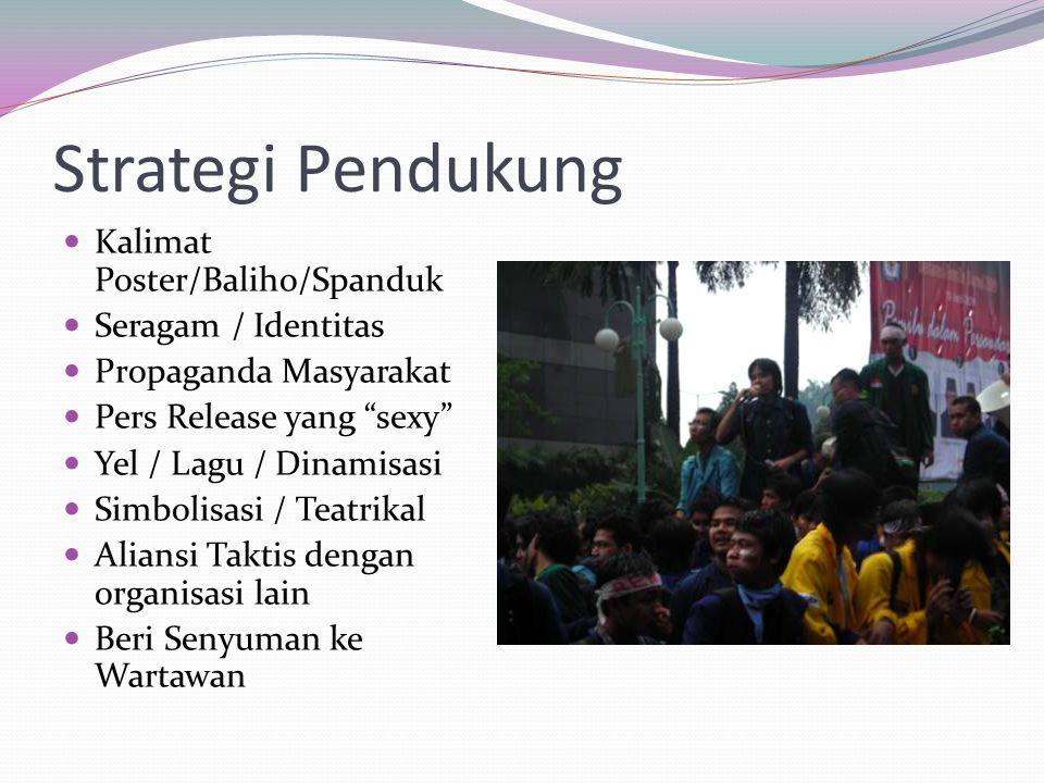 Strategi Pendukung Kalimat Poster/Baliho/Spanduk Seragam / Identitas