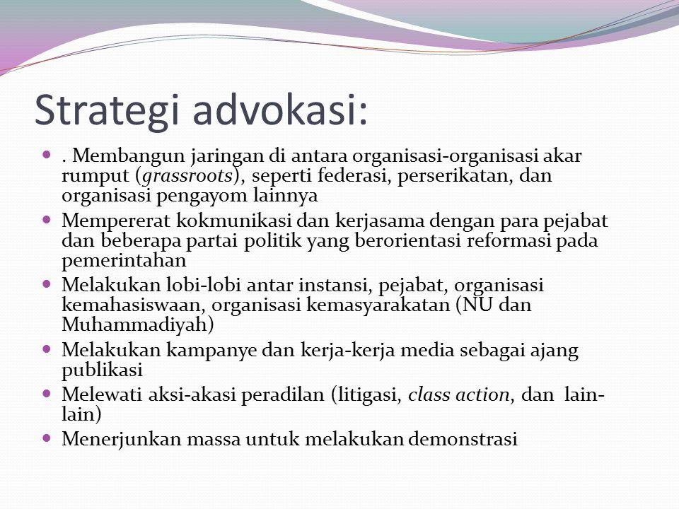 Strategi advokasi: