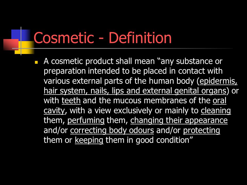 Cosmetic - Definition