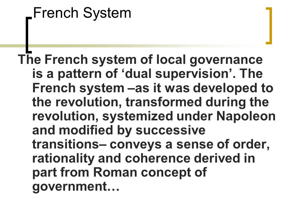 French System
