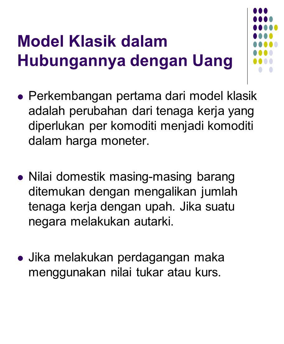 Model Klasik dalam Hubungannya dengan Uang