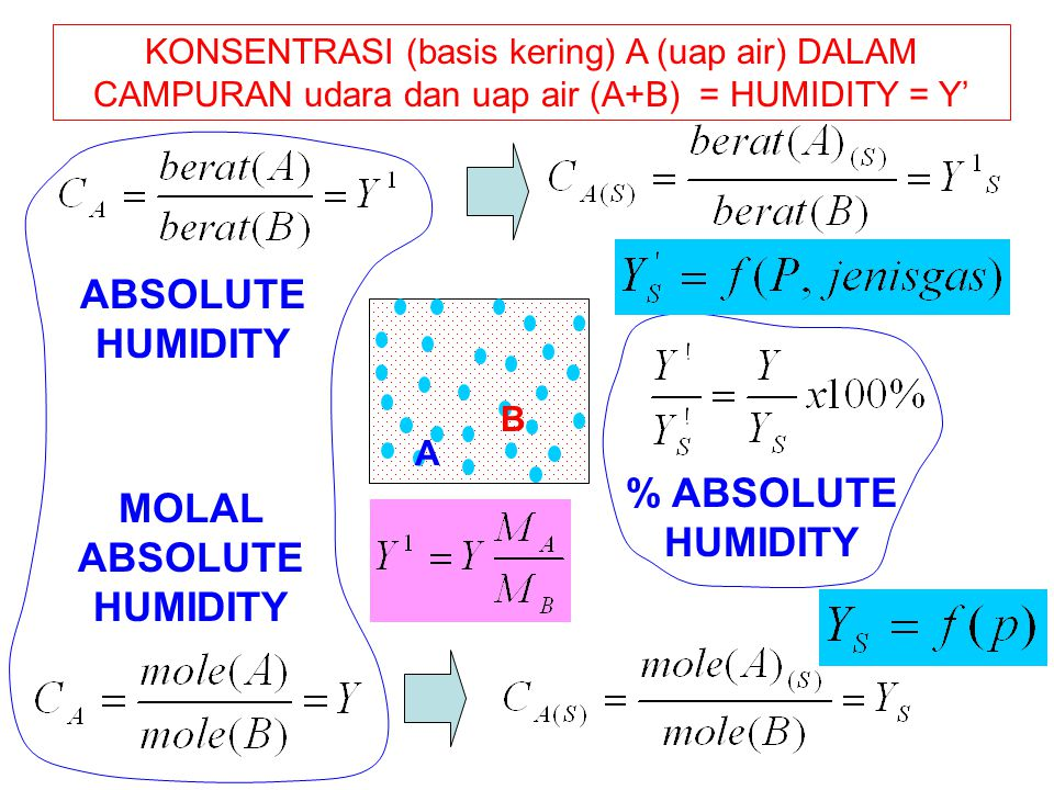 MOLAL ABSOLUTE HUMIDITY