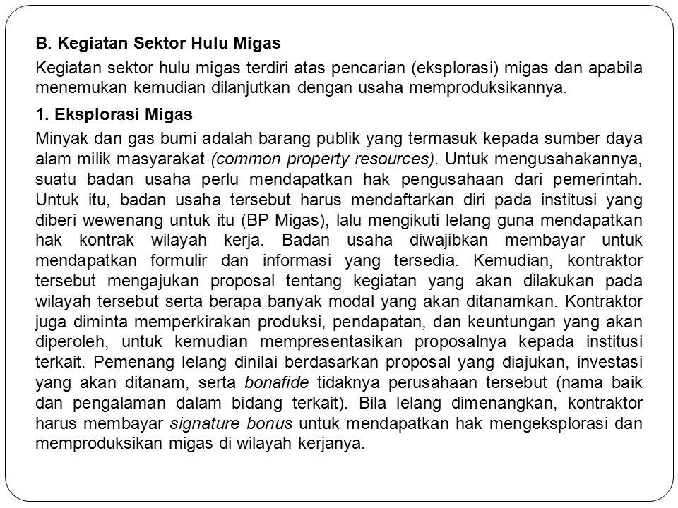 B. Kegiatan Sektor Hulu Migas
