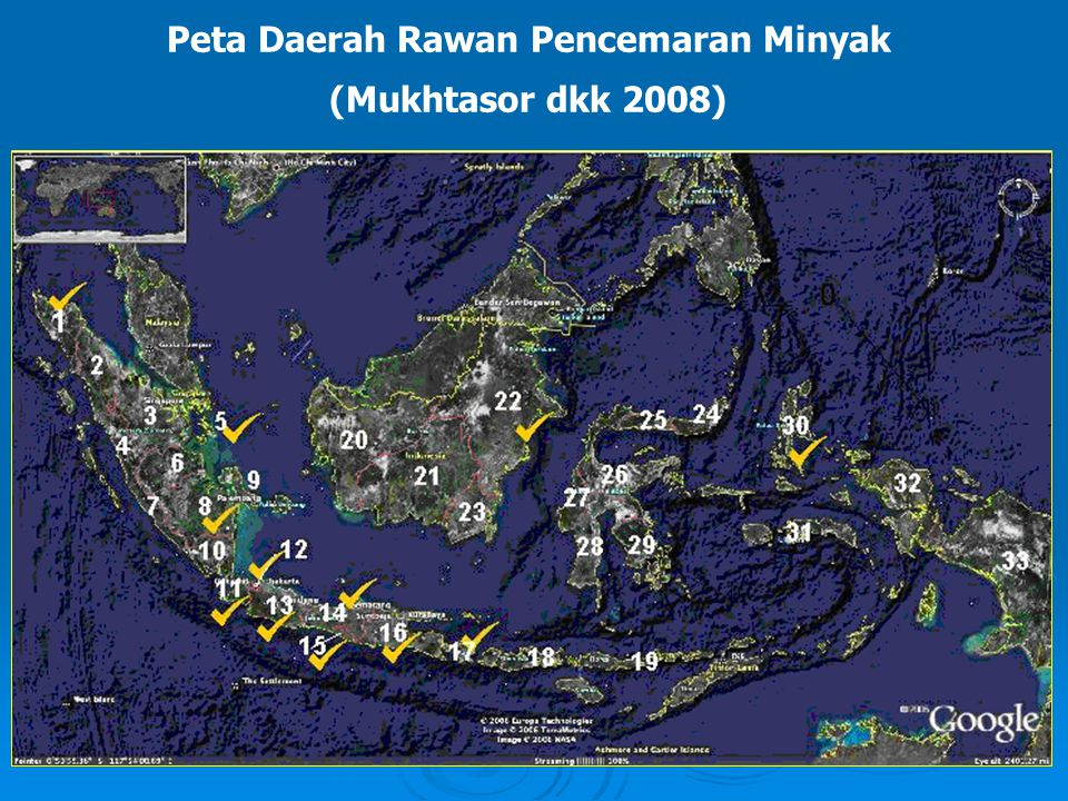 Peta Daerah Rawan Pencemaran Minyak (Mukhtasor dkk 2008)
