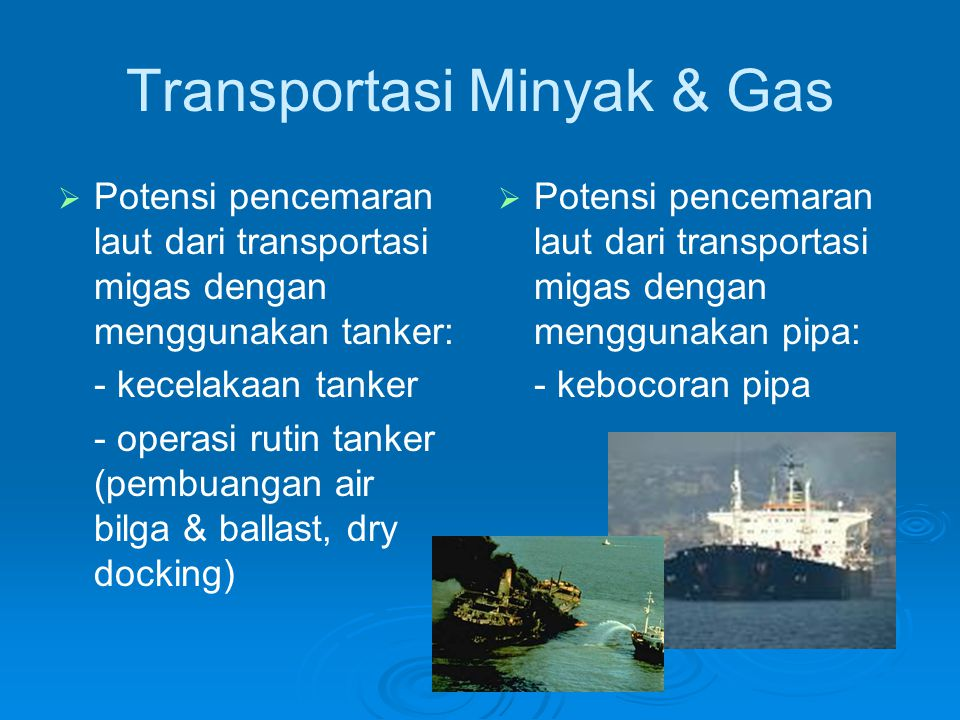 Transportasi Minyak & Gas